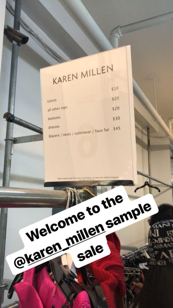 Karen Millen Sample Sale Review by ShopDrop App NYC