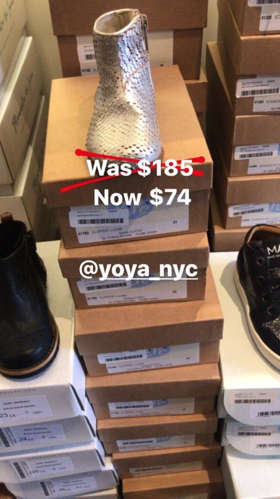 YOYA sample sale for kids