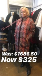 Heike Jarick Sample Sale coat and the designer