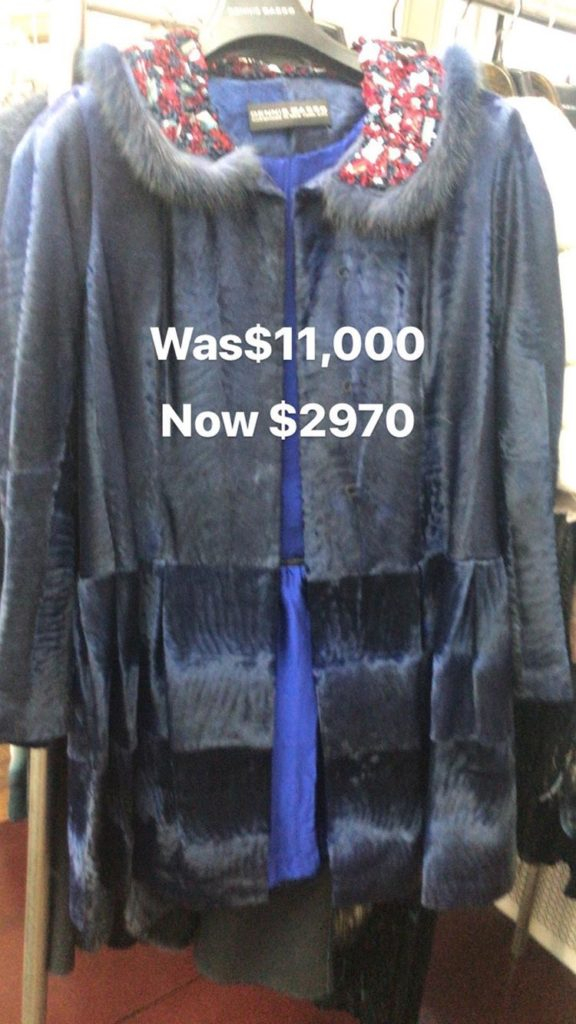 shopdrop dennis basso sample sale nyc review