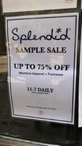 Splendid Sample Sale