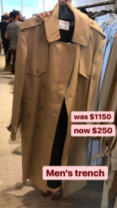 Helmut Lang sample sale