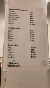 Vivienne Westwood sample sale