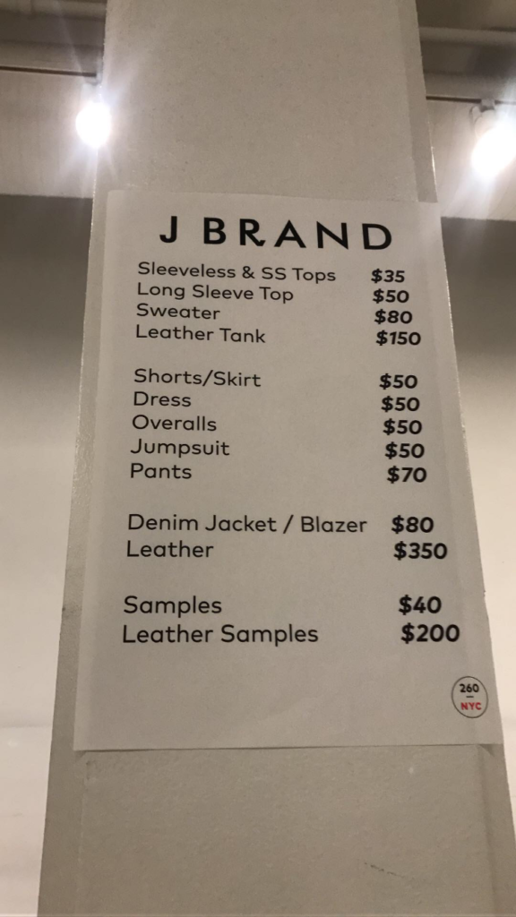 J Brand Sample Sale